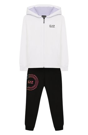 Детская комплект из толстовки и брюк EA 7 черно-белого цвета, арт. 3HFV55/FJ31Z | Фото 1