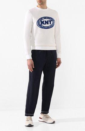 Мужские текстильные кроссовки BRUNELLO CUCINELLI бежевого цвета, арт. MZUKIS0250 | Фото 2