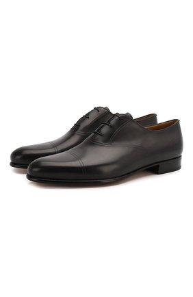 Мужские кожаные оксфорды BERLUTI темно-серого цвета, арт. S5004-001 | Фото 1