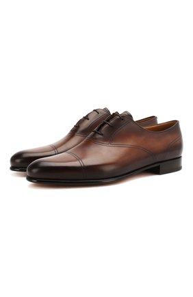 Мужские кожаные оксфорды BERLUTI коричневого цвета, арт. S5004-002 | Фото 1