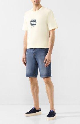 Мужские замшевые кеды PRIMABASE темно-синего цвета, арт. 39426 016 + ALZ0 | Фото 2
