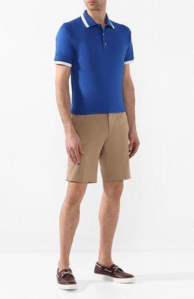 Мужские кожаные топсайдеры H`D`S`N BARACCO бордового цвета, арт. SAIL.25*   Фото 2