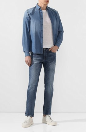 Мужская джинсовая рубашка VAN LAACK синего цвета, арт. T0YK2-SF05WK/155140 | Фото 2