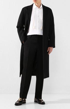 Мужской шерстяные брюки BURBERRY черного цвета, арт. 4563511 | Фото 2