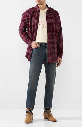 Мужские джинсы BURBERRY синего цвета, арт. 8019827 | Фото 2