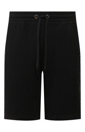 Мужские хлопковые шорты BURBERRY черного цвета, арт. 8026942 | Фото 1