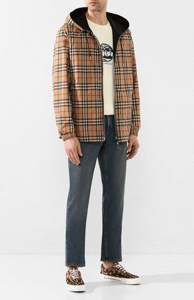 Мужская двусторонняя куртка BURBERRY бежевого цвета, арт. 8027097 | Фото 2
