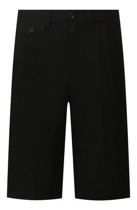 Мужские хлопковые шорты BURBERRY черного цвета, арт. 8031460 | Фото 1