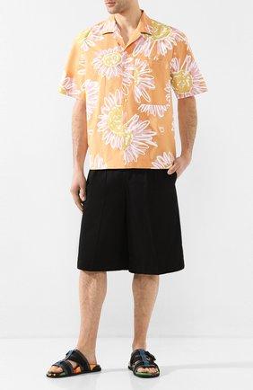 Мужские хлопковые шорты BURBERRY черного цвета, арт. 8031460 | Фото 2
