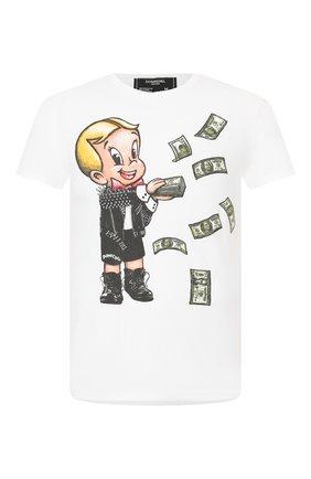Мужская хлопковая футболка DOM REBEL белого цвета, арт. BALLER/REGULAR T-SHIRT | Фото 1