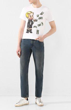 Мужская хлопковая футболка DOM REBEL белого цвета, арт. BALLER/REGULAR T-SHIRT | Фото 2