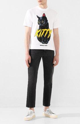 Мужская хлопковая футболка DOM REBEL белого цвета, арт. ME0W/0VERSIZE T-SHIRT | Фото 2