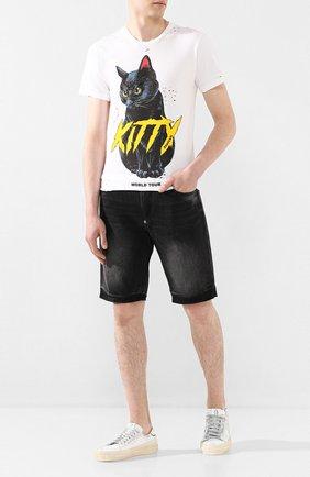 Мужская хлопковая футболка DOM REBEL белого цвета, арт. ME0W/REGULAR T-SHIRT/H0LES | Фото 2