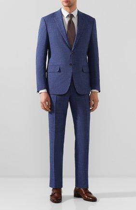 Мужская хлопковая сорочка BOSS синего цвета, арт. 50427898 | Фото 2