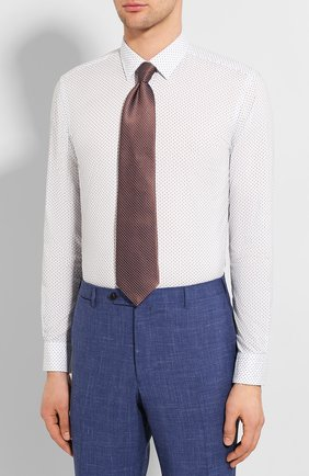 Мужская хлопковая сорочка BOSS синего цвета, арт. 50427898   Фото 4