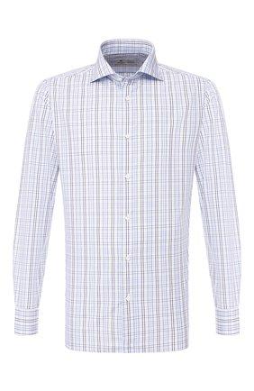 Мужская хлопковая сорочка LUIGI BORRELLI голубого цвета, арт. EV08/ARCHILLE/TS9107 | Фото 1
