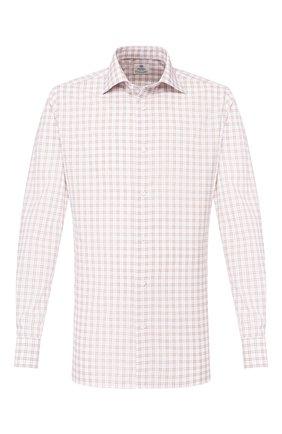 Мужская хлопковая сорочка LUIGI BORRELLI светло-коричневого цвета, арт. EV08/LUCIAN0/TS9109 | Фото 1