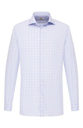 Мужская хлопковая сорочка LUIGI BORRELLI синего цвета, арт. EV08/ARCHILLE/TS9397 | Фото 1