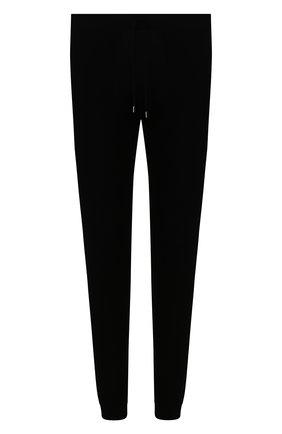 Мужские хлопковые джоггеры CRUCIANI черного цвета, арт. CU25.410   Фото 1 (Длина (брюки, джинсы): Стандартные; Материал внешний: Хлопок; Силуэт М (брюки): Джоггеры; Мужское Кросс-КТ: Брюки-трикотаж)