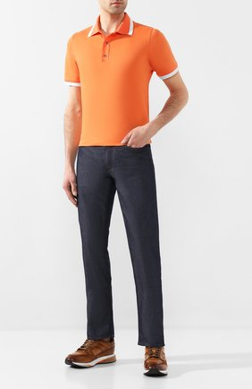 Мужские джинсы CANALI темно-синего цвета, арт. 91711H/PD00401 | Фото 2
