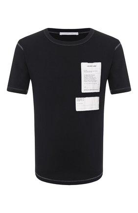 Мужская хлопковая футболка HELMUT LANG черного цвета, арт. K01DM503 | Фото 1