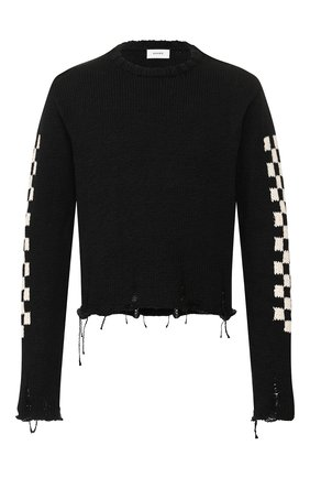 Мужской хлопковый свитер RHUDE черного цвета, арт. 04ACR08001 | Фото 1