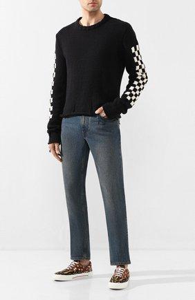 Мужской хлопковый свитер RHUDE черного цвета, арт. 04ACR08001 | Фото 2