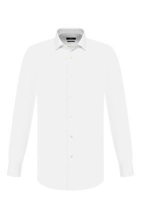 Мужская хлопковая сорочка BOSS белого цвета, арт. 50427947 | Фото 1
