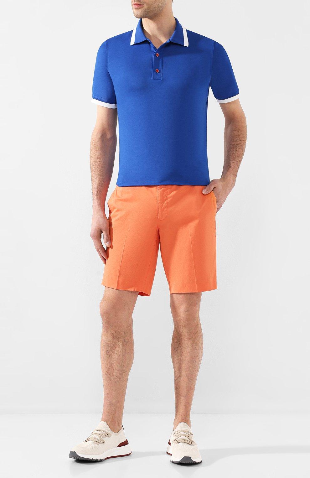 Мужские хлопковые шорты RALPH LAUREN оранжевого цвета, арт. 790800040 | Фото 2