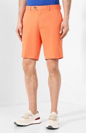 Мужские хлопковые шорты RALPH LAUREN оранжевого цвета, арт. 790800040 | Фото 3