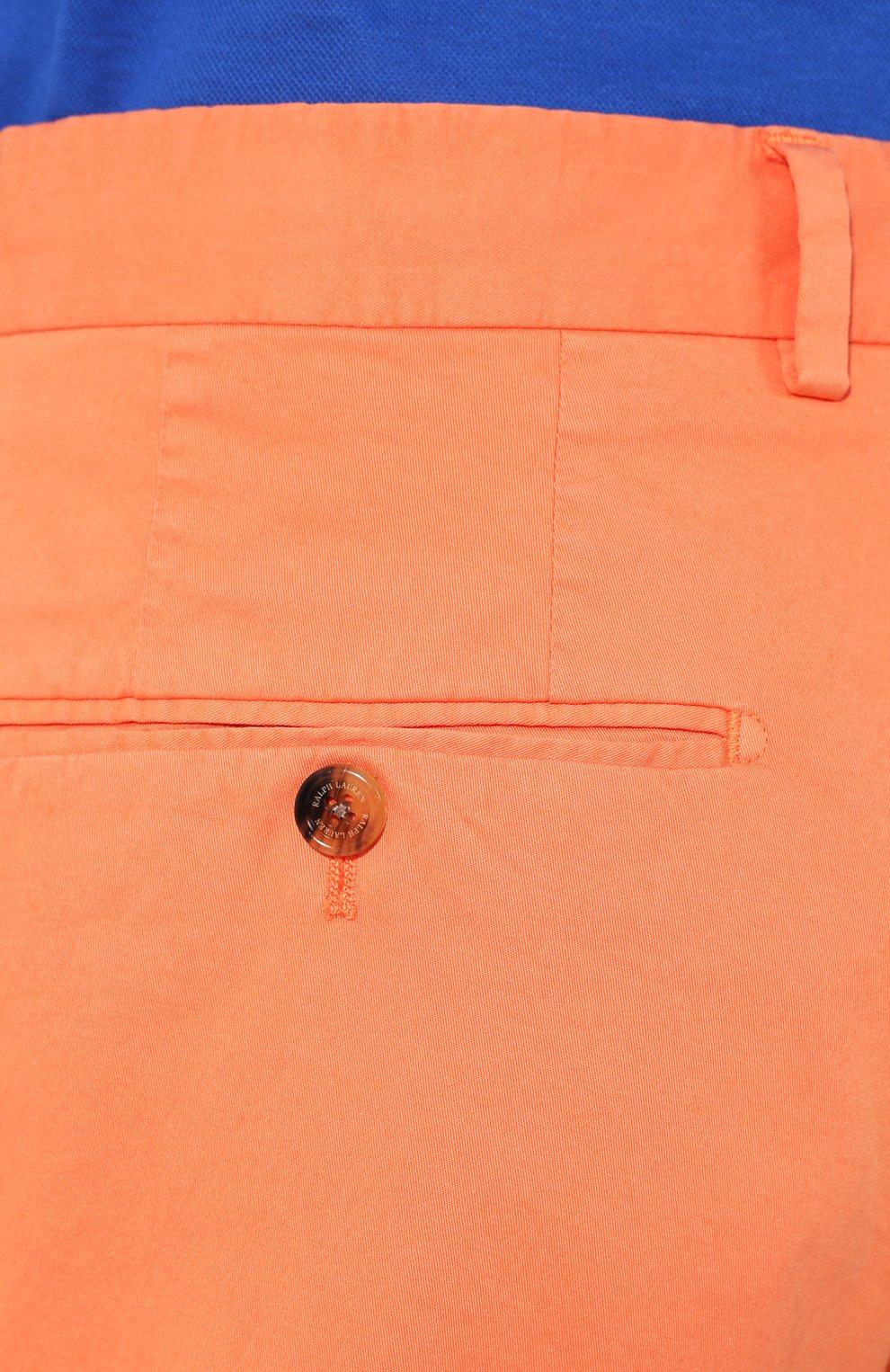 Мужские хлопковые шорты RALPH LAUREN оранжевого цвета, арт. 790800040 | Фото 5