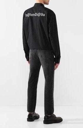 Мужская хлопковая рубашка BALENCIAGA черного цвета, арт. 621924/TIM04 | Фото 2