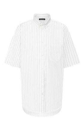 Мужская хлопковая рубашка BALENCIAGA белого цвета, арт. 621912/TIM35 | Фото 1