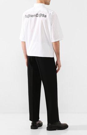 Мужская хлопковая рубашка BALENCIAGA белого цвета, арт. 621912/TIM35 | Фото 2
