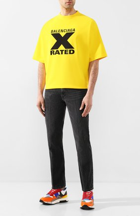 Мужская хлопковая футболка BALENCIAGA желтого цвета, арт. 620969/TIVA7 | Фото 2