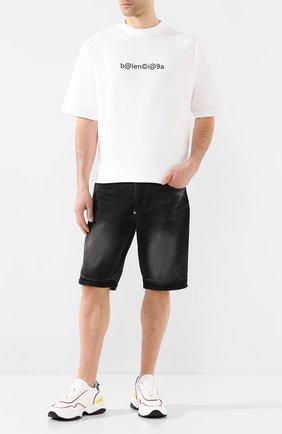 Мужская хлопковая футболка BALENCIAGA белого цвета, арт. 620969/TIV50 | Фото 2