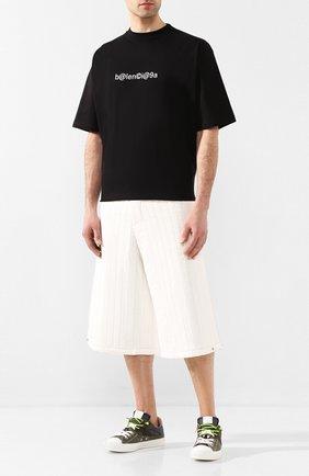 Мужская хлопковая футболка BALENCIAGA черного цвета, арт. 620969/TIV50 | Фото 2