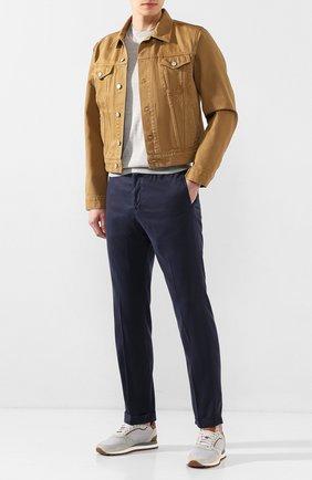 Мужской шелковый джемпер KITON светло-серого цвета, арт. UK1092 | Фото 2