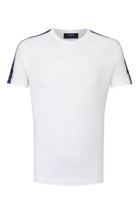 Мужская хлопковая футболка KNT белого цвета, арт. UMM0039K06S84 | Фото 1