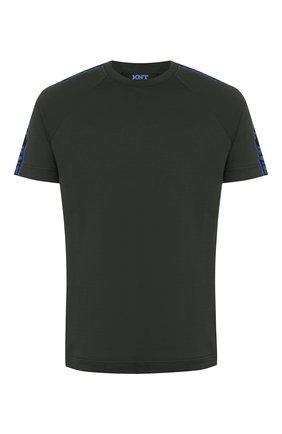 Мужская хлопковая футболка KNT темно-зеленого цвета, арт. UMM0039K06S84 | Фото 1