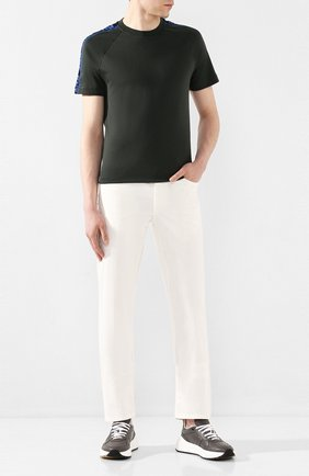 Мужская хлопковая футболка KNT темно-зеленого цвета, арт. UMM0039K06S84 | Фото 2