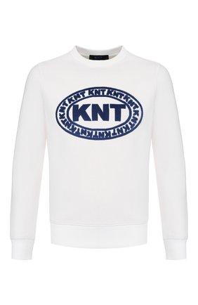 Мужской хлопковый свитшот KNT белого цвета, арт. UMM0036K06S82 | Фото 1