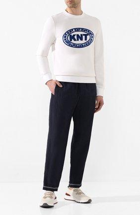 Мужской хлопковый свитшот KNT белого цвета, арт. UMM0036K06S82 | Фото 2