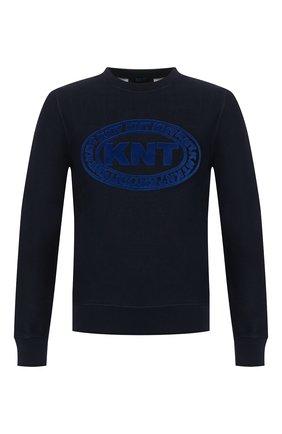 Мужской хлопковый свитшот KNT темно-синего цвета, арт. UMM0036K06S82 | Фото 1