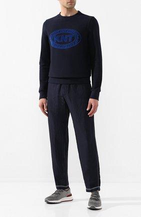 Мужской хлопковый свитшот KNT темно-синего цвета, арт. UMM0036K06S82 | Фото 2