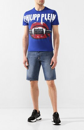 Мужская хлопковая футболка PHILIPP PLEIN темно-синего цвета, арт. P20C MTK4415 PJY002N | Фото 2