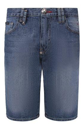 Мужские джинсовые шорты PHILIPP PLEIN синего цвета, арт. P20C MDT2170 PDE004N | Фото 1