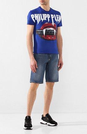 Мужские джинсовые шорты PHILIPP PLEIN синего цвета, арт. P20C MDT2170 PDE004N | Фото 2