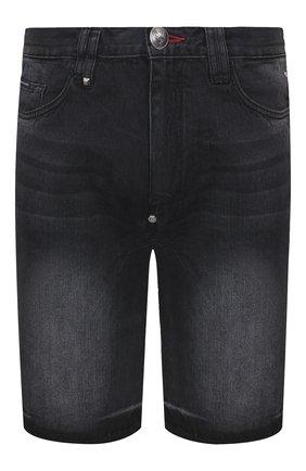 Мужские джинсовые шорты PHILIPP PLEIN серого цвета, арт. P20C MDT2170 PDE004N   Фото 1