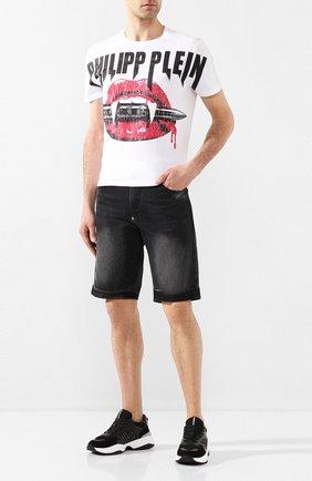 Мужские джинсовые шорты PHILIPP PLEIN серого цвета, арт. P20C MDT2170 PDE004N   Фото 2